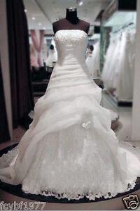 New White/IvoryWedding Dress Bridal Gown Size:6/8/10/12/14/16/18/20/22
