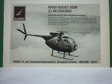 12/1969 PUB NARDI SA MILANO HUGHES OH-6A 500M 23 WELTREKORDE GERMAN AD