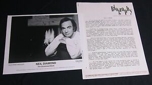 NEIL DIAMOND 'THE CHRISTMAS ALBUM' 1992 PRESS KIT--PHOTO