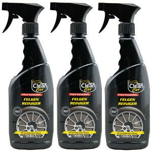 Elina Clean Car Professional FELGEN REINIGER 3 x 500ml für strahlenden Glanz