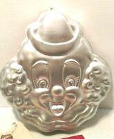 Wilton Happy Face Clown Metal Cake Pan Jello Aluminum Mold 1989 #2105-802