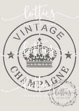 CHAMPAGNE STAMP A5 STENCIL Furniture Fabric Vintage Shabby Chic French 190 MYLAR