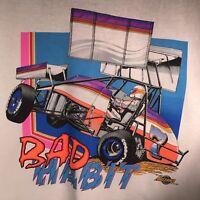 Bad Habit 1990 XL T Shirt NARC SCRA Dirt Track Racing Legend NOS