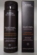 Lot Aveda Invati MEN System Set of 2 Retail $100 For Thinning Hair - Full Size