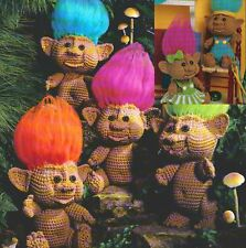 (785) Troll Dolls and Clothes Crochet Pattern