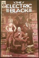 ELECTRIC BLACK #1 SIGNED SCHMALKE WOODALL 1:10 INCENTIVE VARIANT NM SCOUT COMICS