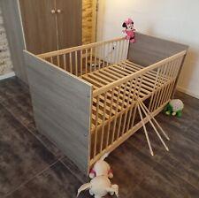 Lit Bébé à Barreaux 120 X 60 CM Lot Enfant Convertible Brauncafe Gravure Complet