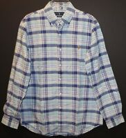 Polo Ralph Lauren Mens Blue Green Pink Plaid Button-Front Shirt NWT $89 Size M