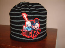 MICKEY MOUSE WINTER KNIT HAT CAP, Black & Grey, Disney; Boys or Girls size