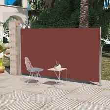 Patio Retractable Side Awning 160 X 300 Cm Brown Outdoor Garden Sunshade