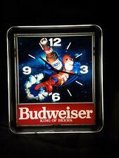 """Budweiser King Of Beers """"Budman"""" Lihjted Clock"""