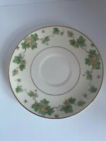VINTAGE POPE GOSSER CHINA AMERICAN NY IVY PATTERN SAUCERs(2) GOLD TRIM
