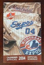 2004 MLB Montreal Expos Official Schedule / '04 Season Full Calendar