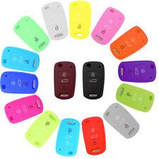 Silicone 3 Button Remote Flip Key Case Fob Cover For Kia Sportage Soul Rio ceed