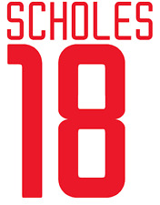 Manchester United Scholes Nameset Shirt Soccer Number Letter Heat Football Euro