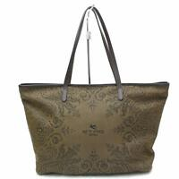 Authentic Etro Tote Bag  Browns Canvas 112805