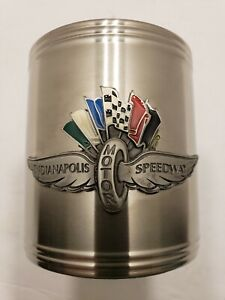 Vintage Can Cooler INDIANAPOLIS MOTOR SPEEDWAY Stainless Steel