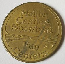 Vintage RARE Malibu Money Castle & Showboat Fun Centers Copper Brass Game Token