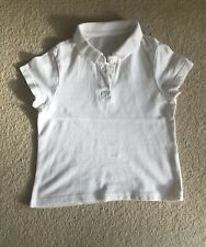 Girls White School Plain Polo T-Shirt Uniform PE Short Sleeve 4-5 years - F&F