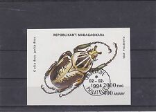 MADAGASCAR 1994 INSECTES BLOC FEUILLET OBLITERE YT BF 90B