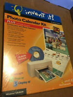 NEW/SEALED - INVENT IT! PHOTO CALENDAR KIT FOR INK JET PRINTERS (W/ SOFTWARE)