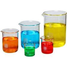 Borosilicaat Glas Lage vorm Glas Beker, 50/100/250/500/1000 mL (Pak van 5)