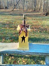 """Handmade star lamp Yellow, 28"""" tall & base is 7x7 sq. no shade"""