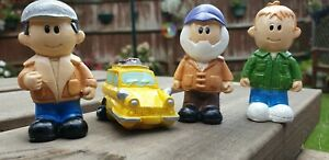 4 x Only fools and horses figures with van brand new + free gift