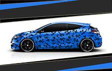 Camouflage Aufkleber Set Cyber Pixel Autotattoo Auto Sticker Tuning JDM 7.2097