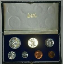 More details for south africa 1967 proof set with silver rand