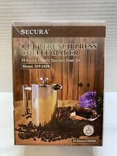Secura 8-Cup French Press Stainless Steel Coffee Maker 34-Ounce/1000ML