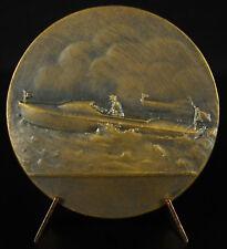Medaill Course bateau à moteur race racing boat c1950 motor sport sailing medal