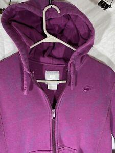 Vintage Nike Sweatshirt Hoodie Purple Youth Medium Purple Full Zip Swoosh