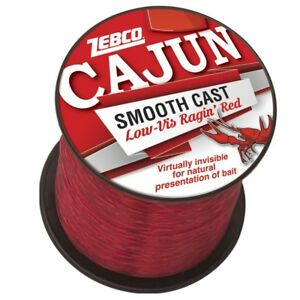 Cajun Low Vis Ragin Red 1/4lb Spool Size Mono Fishing Line NEW Up to 3000 yds