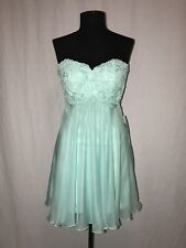 LA FEMME 20633 PROM PARTY COCKTAIL SHORT DRESS 4 LIGHT MINT $139 OBO NWT