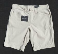 NEW EDDIE BAUER Women's Adventurer Chino DWR Stretch Travel Long Shorts sz S 2 4