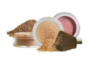 4pc KIT w/KABUKI BRUSH Mineral Makeup Bare Set Full Coverage Foundation Powder