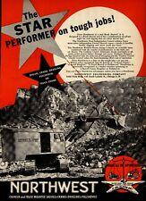 1951 Northwest Engineering Print Advertisement: Marquette Cement Co. Rock Shovel