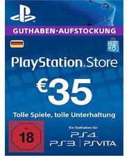 PSN PlayStation Network Card Key 35 EUR Euro Prepaid DE