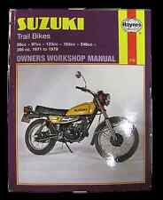 HAYNES MANUAL FOR SUZUKI  TS 185 250 400 TC 100 125 185 1971-79