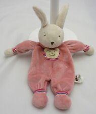 jelly kitten doudou lapin vieux rose velours 29 cm
