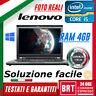 "PC NOTEBOOK PORTATILE LENOVO THINKPAD T430S 14"" CPU i5 4GB RAM 320GB WIN10 (t430"
