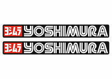 Yoshimura Decals Stickers for Exhaust Graphic Set Vinyl Adhesive 2 Pcs Black
