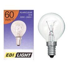 60 watt edi lumière clair rond ampoule ses E14 petit edison vis