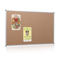 "Cork Pin Message Notice Board Aluminium Frame Office Memo School Pinboard 24x18"""
