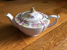 Vintage Sadler Teapot Pink Roses And Gold Trim