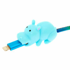Claire's Girl's MojiPower® Hippo Cable Protector - Blue