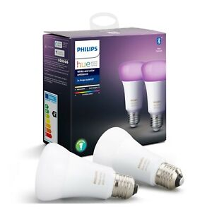 Philips Hue White and Color Ambience A19 2 pack bulbs E26