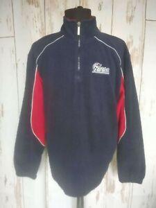 New England Patriots Reebok NFL Football Fleece Half-Zip Jumper Jacket Sz M