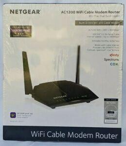 NETGEAR DOCSIS 3.0 AC1200 High Speed WiFi Cable Modem (C6220) C2 C6220-100NAS